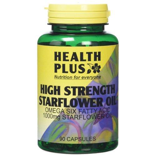 Health Plus High Strength Starflower Oil 1000mg Omega-6 Supplement - 90 Capsules