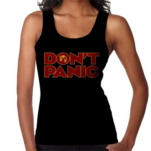 Dont Panic Hitchhikers Guide To The Galaxy Women's Vest