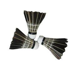 Set of 12 Black Feather Badminton Shuttlecocks Goose Feather Shuttlecocks