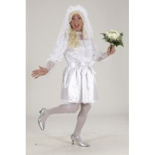 Extra Large Men's Bride Costume -  dress bridal costume drag queen men wedding mens jga white xl 5456