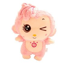 Funny Lovely Monkey Creative Doll Plush Toy Doll,pink A