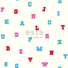 wallpaper alphabet turquoise and pink - 137325