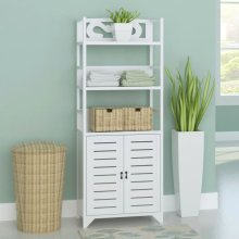 vidaXL Bathroom Cabinet Albuquerque Wood White 46x24x117,5 cm