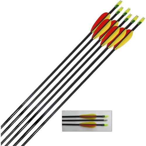 6 x 30 inch Black Fibreglass arrows