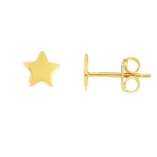 24061d0f9 14k Yellow Gold Star Stud Earrings on OnBuy