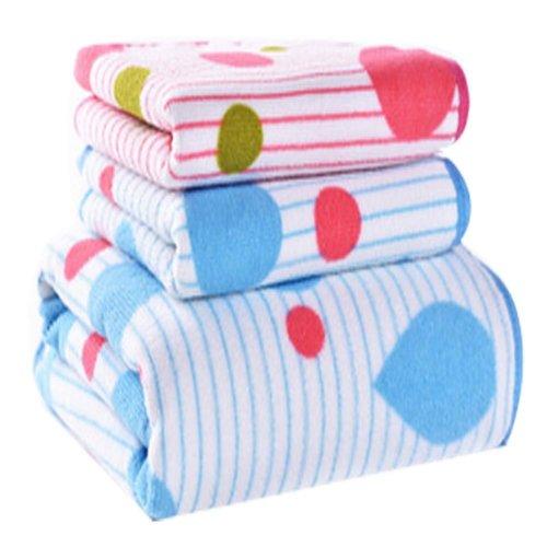 Drop Pattern Strong Absorbent Bath Towels Linen Sets(Multicolor)