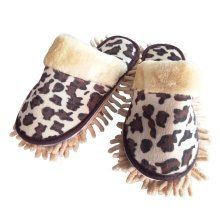 [Leopard] Creative Useful Mop Slippers Floor Cleaning Slippers