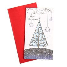 Set of 3 Exquisite Creative Hollow out Christmas Cards Greeting Card with Envelope, G