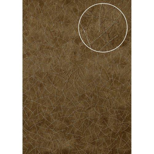 Atlas STI-5106-5 Graphic wallpaper shimmering olive-brown 7.035 sqm
