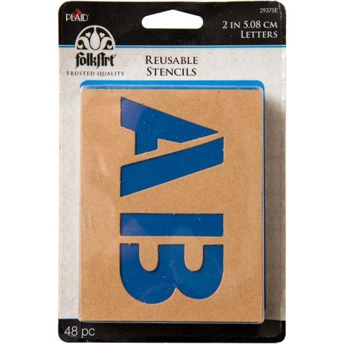 """FolkArt Stencil Value Pack 2""""-4""""-Plain Jane 2"""" 48/Pkg"""