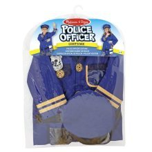 Melissa and Doug Police Officer Role Play Costume Dress-Up Set (8 pcs)