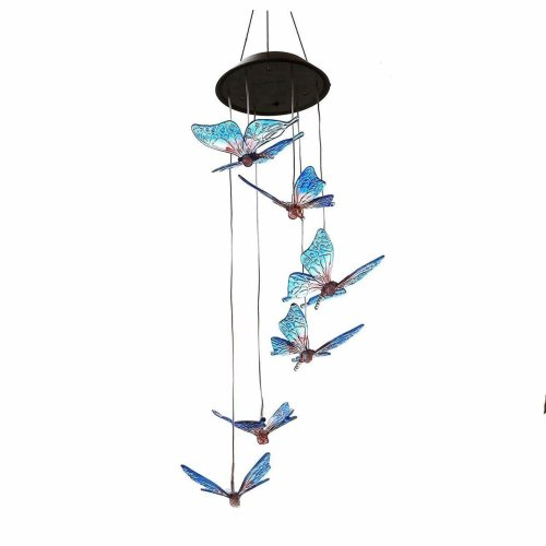 Holiday Lighting Wind Chime Design Solar Powered Wind Chimes Light Hanging Led Garden Outdoor Lamp Colour Changing Drop Shipping