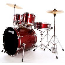 Mapex Tornado 20-Inch Fusion Drum Kit, Dark Red