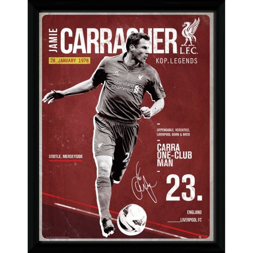 Liverpool Carragher Retro Framed Print