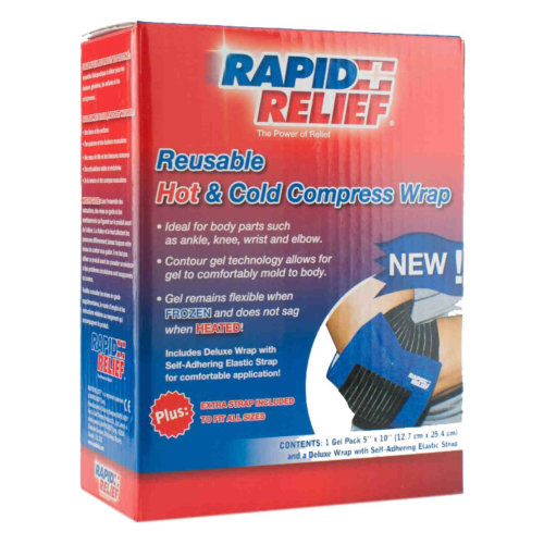 Rapid Relief Universal Reusable Hot/Cold Compress Wrap