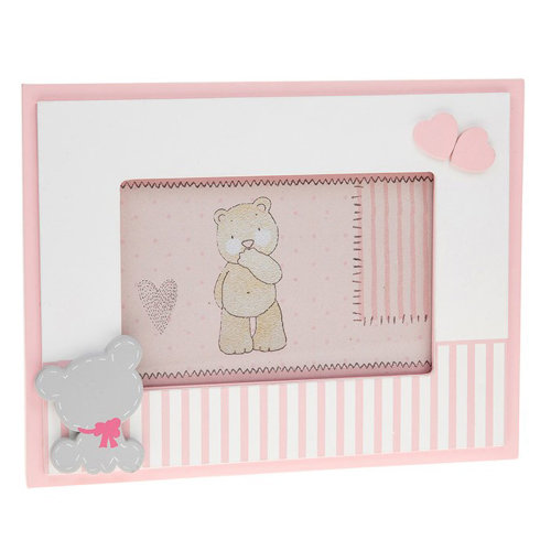 "New Baby 'Tiny Ted' Range - Pink 6""x4"" Photo Frame"
