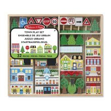 Childrens Melissa and Doug Wooden Town Set - Great Play Set