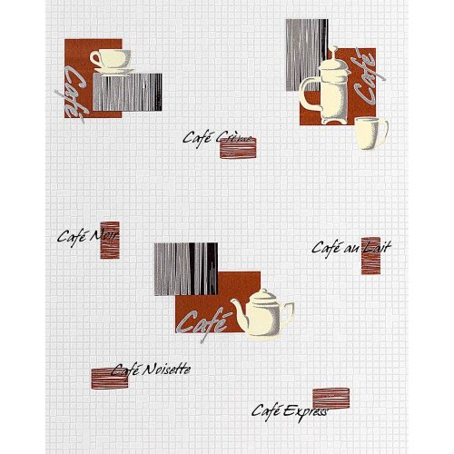 EDEM 062-20 wallpaper coffee design mosaic tile washable white brown | 57 sqm