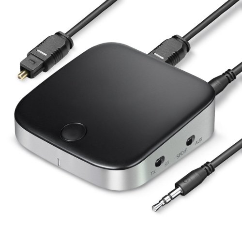 Acekool Bluetooth V4.2 Transmitter and Receiver (Black)