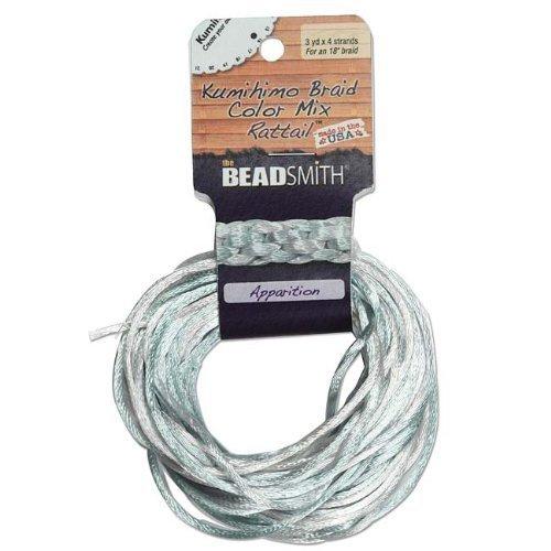 Satin Rattail Braiding Cord 2mm Apparition Mix 4 Colors 3 Yds Each