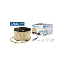 Eagle Static LED Rope Light Kit With Wiring Accessories Kit 45m ice white