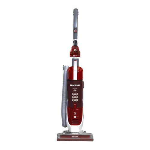Hoover Velocity Evo Reach Bagless Upright Vacuum Cleaner, VE02001, Pets, Powerful, Multi-Cyclonic, Long Cord/Hose - Red