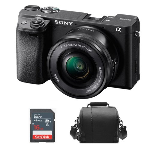 SONY A6400 Black KIT SEL 16-50MM F3.5-5.6 OSS Black +Bag +16GB SD card