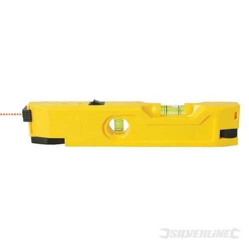 Silverline Mini Laser Level 210mm -  level laser mini 210mm silverline 598477 magnetic base