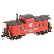 Bachmann Industries Inc. Northeast Steel Caboose Norfolk and Western - N Scale, Red