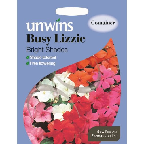 Unwins Pictorial Packet - Busy Lizzie Bright Shades - 50 Seeds
