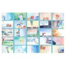 30PCS 1 Set Creative Postcards Artistic Beautiful Postcards, Like