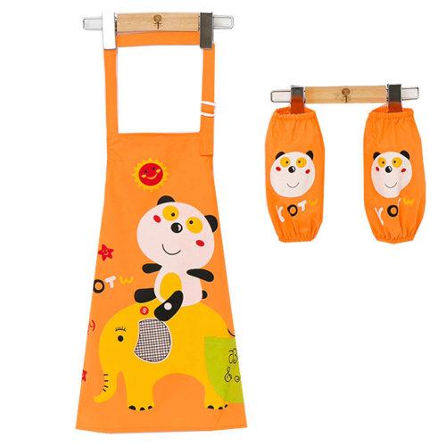 Children's Waterproof Art Smock with Pockets Kids Art Aprons(2 Sleeves+Smock)k,M
