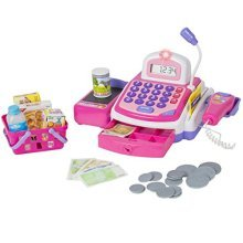 Best Choice Products Pretend Play Electronic Cash Register with Realistic Actions & Sounds, Pink