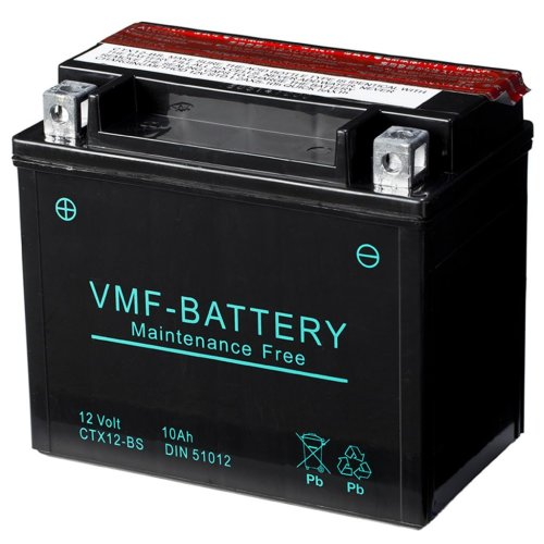 VMF Powersport Liquifix Battery 12V 10 Ah MF YTX12-BS Anti-leak 150x87x131mm