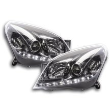 Daylight headlight  Opel Astra H chrome