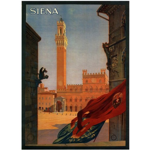 Advertising poster - Siena - High definition printing on stainless steel plate