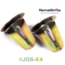 LAND ROVER DEFENDER 90 TERRAFIRMA REAR COIL SPRING DISLOCATION CONE SET - TF510