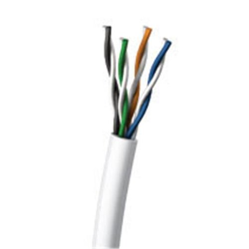 Cables To Go 27354 1000ft Cat5E UTP 350 MHz Solid PVC CMR-Rated Cable - White