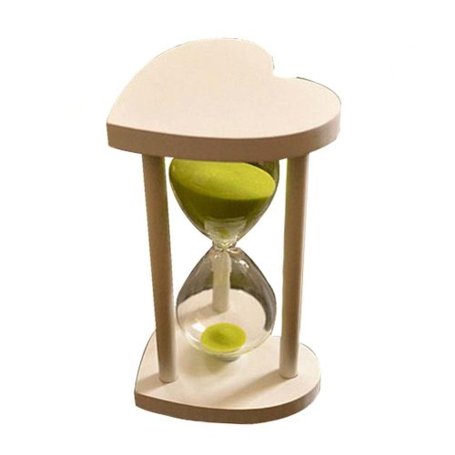 Creative Wooden Heart-shaped Hourglass 30 Minutes Sand Glass Timer,B1