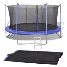 vidaXL Safety Net PE Black for 4.57 m Round Trampoline