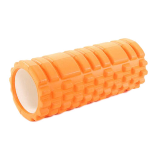 Yoga Foam Roller Wheel Yoga Massage Stick Muscle Relaxation Fitness Exercise 33 CM * 14 CM-Orange