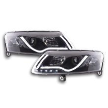 Daylight headlight  Set with DRL Audi A6 type 4F Year 04-08 black
