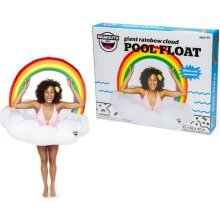 BigMouth Inflatable Giant Rainbow Cloud Pool Float Beach Holiday Swim Ring Water