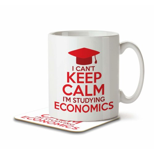 I Can't Keep Calm I'm Studying Economics - Mug and Coaster By Inky Penguin