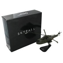 JAMES BOND SKYFALL 007 HELICOPTER DIE CAST 1:100 AW101 MODEL GIFT TOY