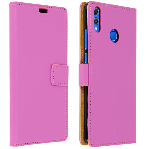 Flip book cover stand wallet case for Honor 8X / Honor View 10 Lite - Purple