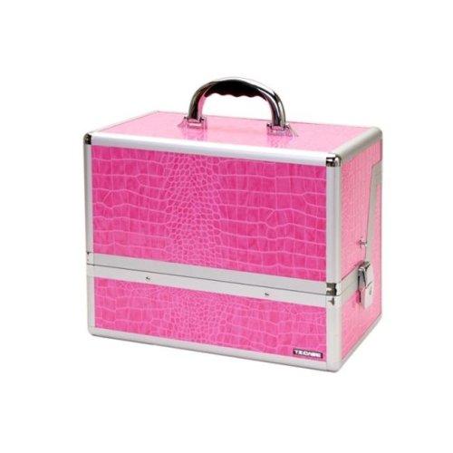 TZ Case AB-70 PA Mini Pro Beauty Organizer Case, Pink Alligator