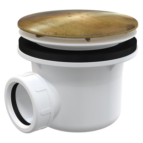 Antic Bronze Antique Brass Bathroom Shower Tray 90mm Drain Waste Trap