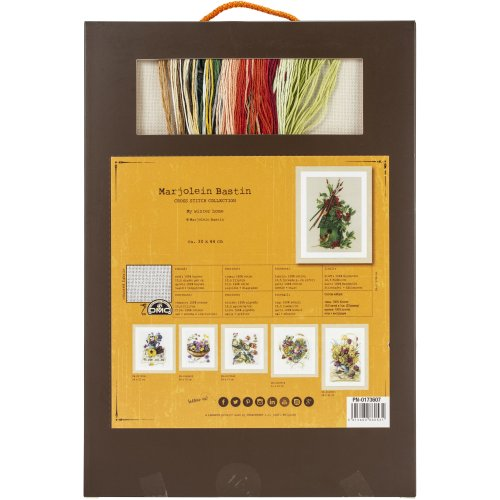 """LanArte Counted Cross Stitch Kit 12""""X17.6""""-My Winter Home (27 Count)"""
