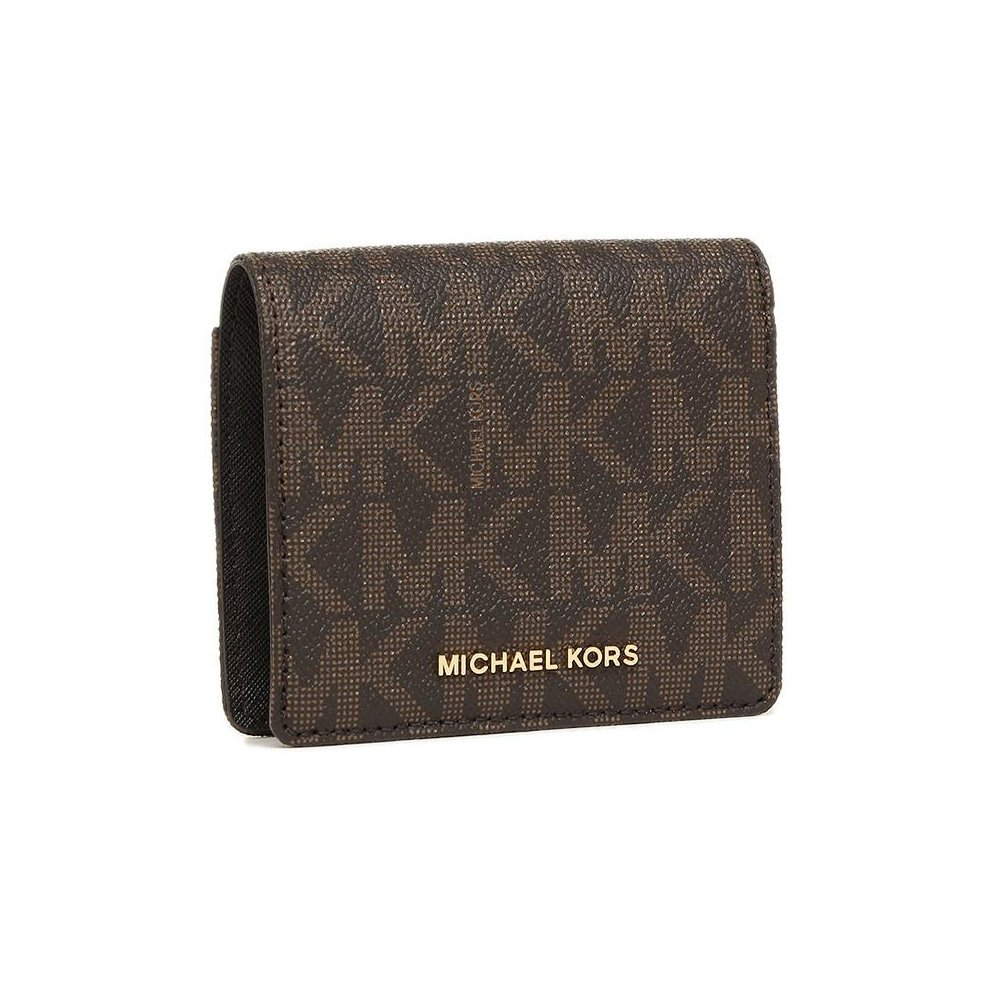 Michael Kors Signature Leather Wallet - Brown - 32T6GTVD2B-200
